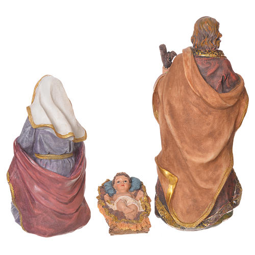 Complete nativity set in multicoloured resin, 11 figurines 27cm 3