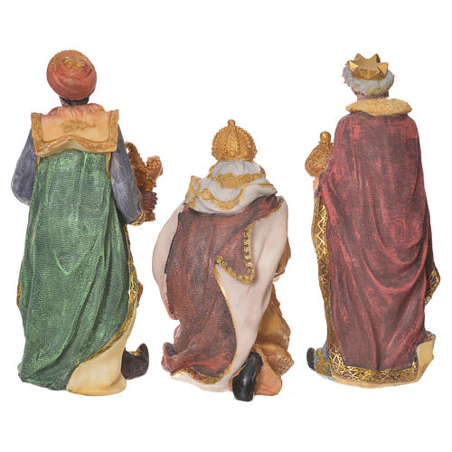 Complete nativity set in multicoloured resin, 11 figurines 27cm 7
