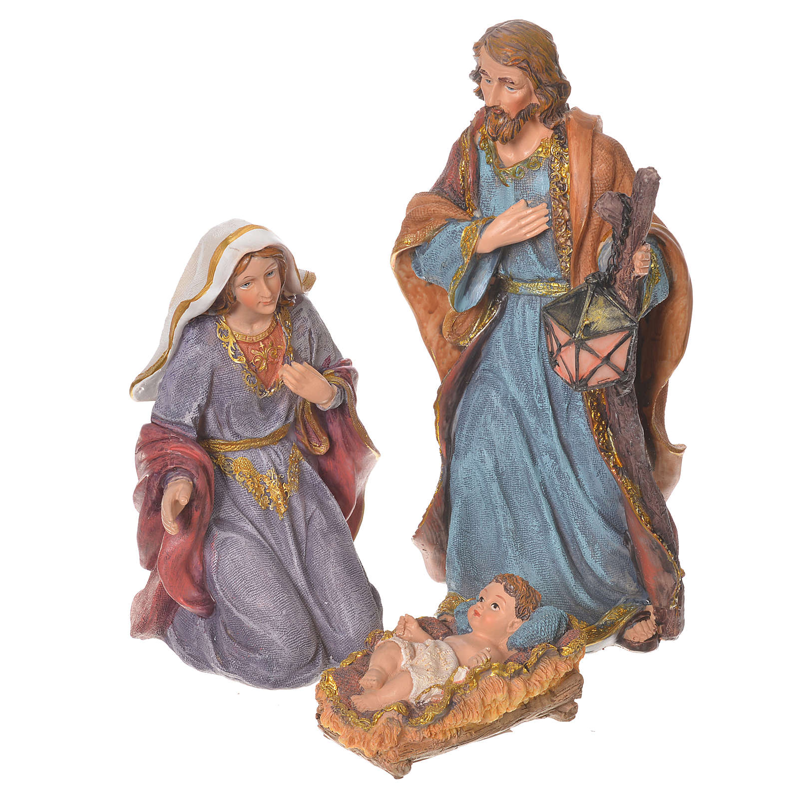 Presepe completo resina 27 cm multicolor 11 statue 4