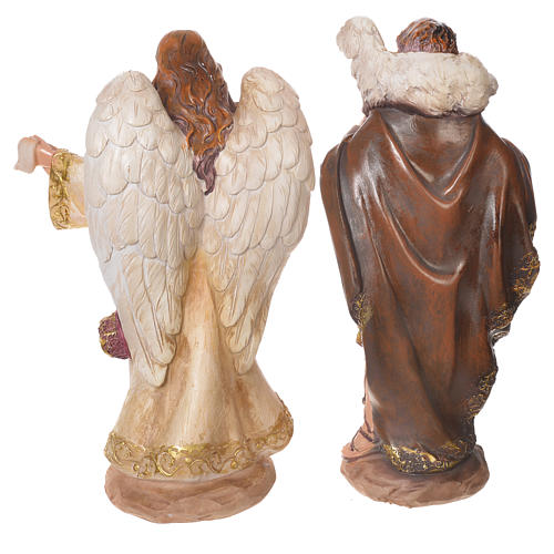 Complete nativity set in multicoloured resin, 11 figurines 31cm 5