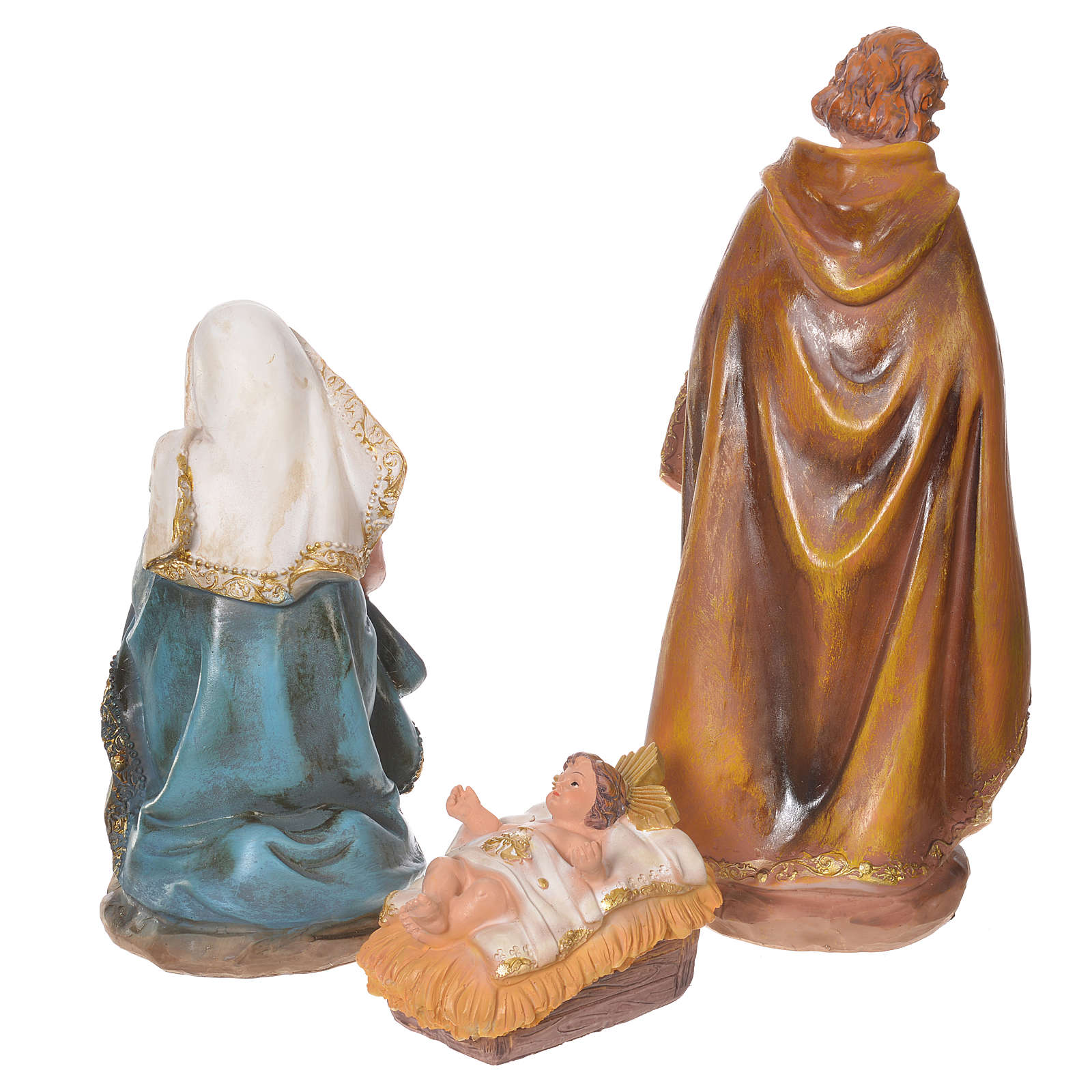 Presepe completo resina 31 cm multicolor 11 statue 4