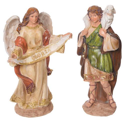 Complete nativity set in multicoloured resin, 11 figurines 31cm 4