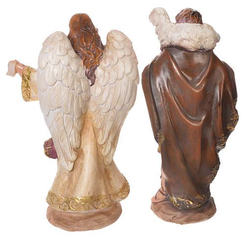 Complete nativity set in multicoloured resin, 11 figurines 31cm 5