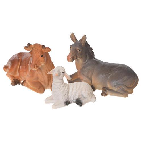 Complete nativity set in multicoloured resin, 11 figurines 31cm 8