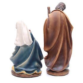 Nativity set in resin, 11 figurines 43cm wood-like finish s3