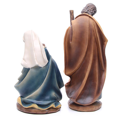 Belén resina 43 cm 11 figuras estilo madera 3