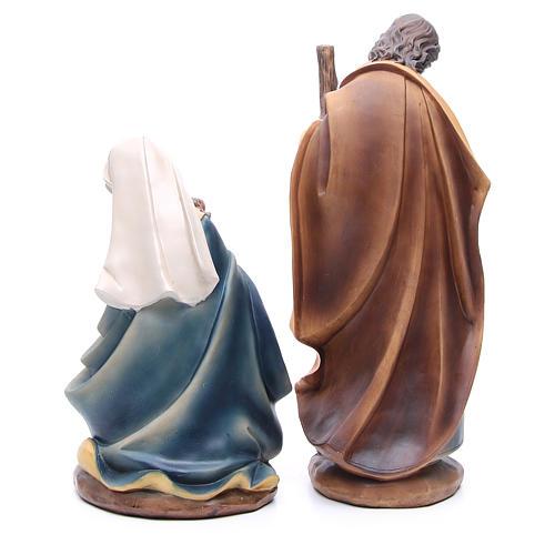 Presépio completo resina estilo madeira completo 11 figuras de altura média 43 cm 3