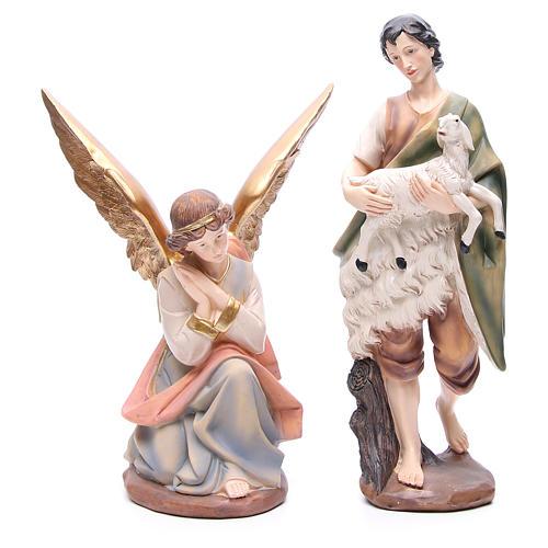 Presépio completo resina estilo madeira completo 11 figuras de altura média 43 cm 5