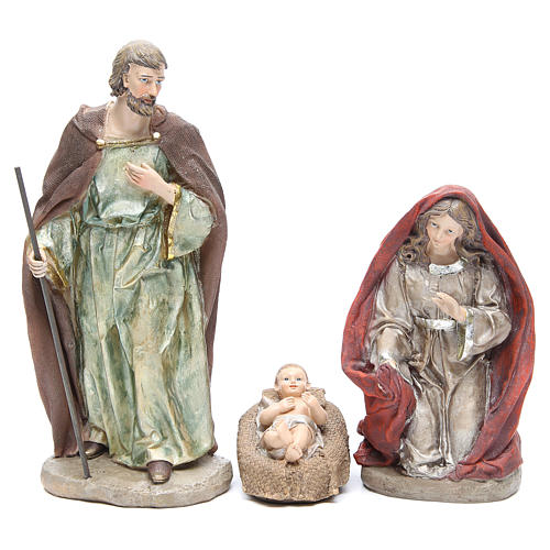 Nativity set in resin measuring 28cm, 8 characters with Multicoloured finish 2