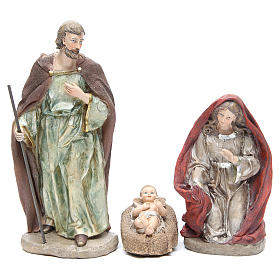 Nativity set in resin measuring 28cm, 8 characters with Multicoloured finish s2