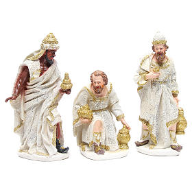 Complete nativity set in resin measuring 32, 10 characters s4