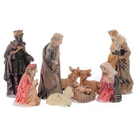 Mini nativity set in resin measuring 5cm, 9 figurines s1