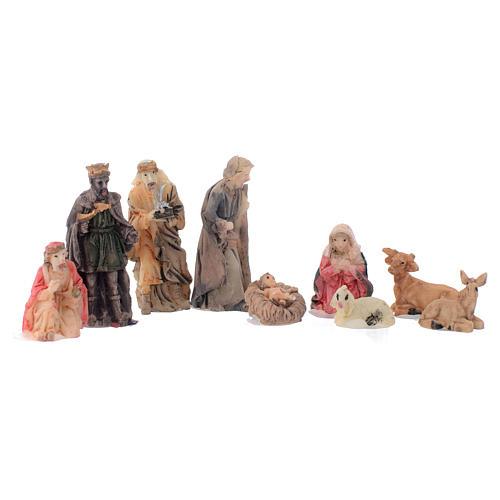 Mini nativity set in resin measuring 5cm, 9 figurines 2