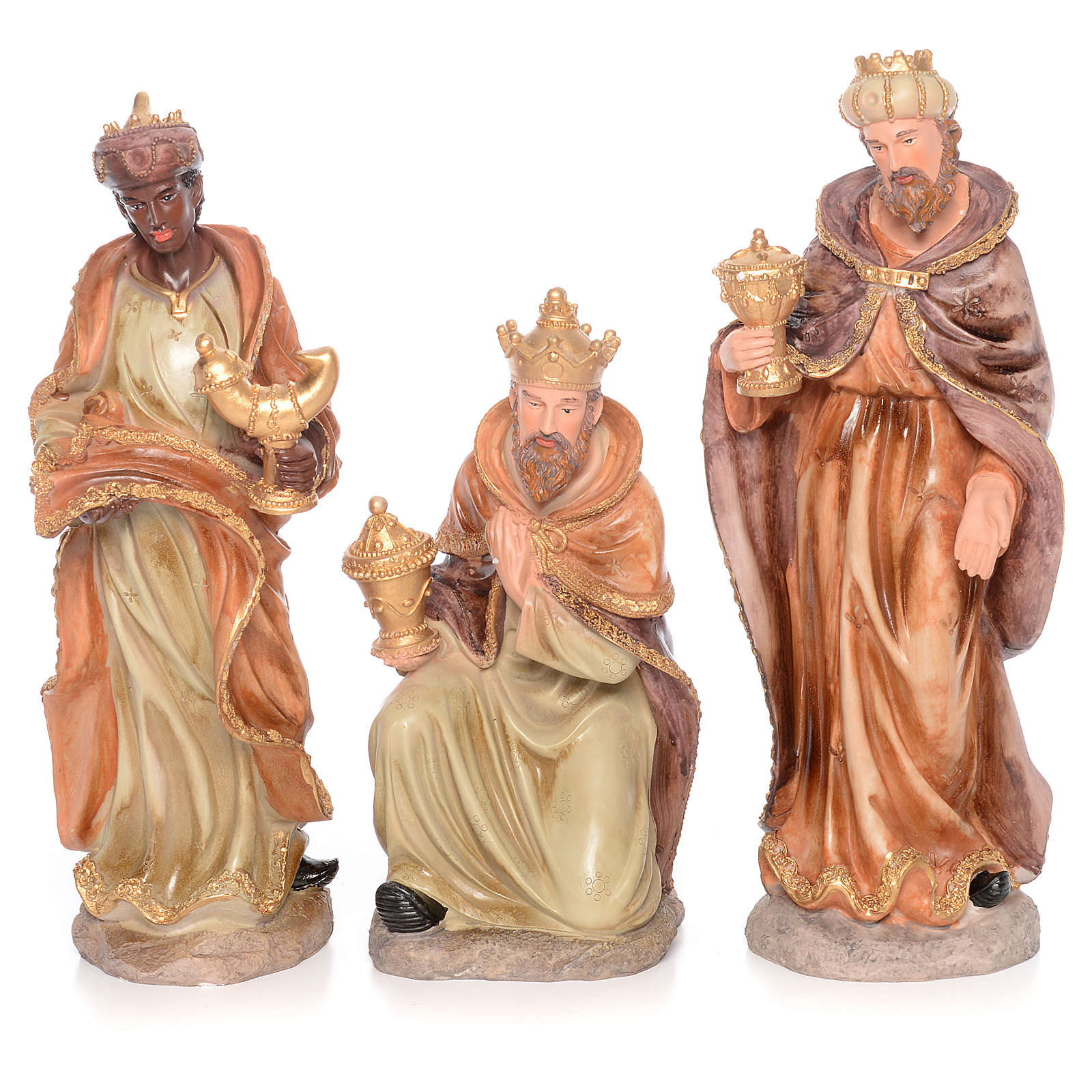 Complete nativity set measuring 50cm 11 figurines in painted resin 4