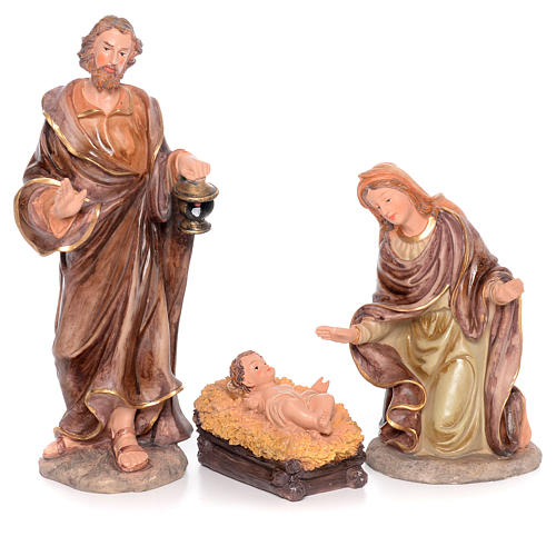 Complete nativity set measuring 50cm 11 figurines in painted resin 2