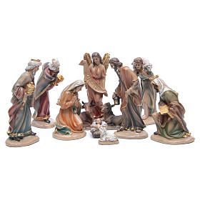Resin nativity set measuring 20cm, 11 figurines in Classic Style s1