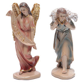 Resin nativity set measuring 20cm, 11 figurines in Classic Style s3