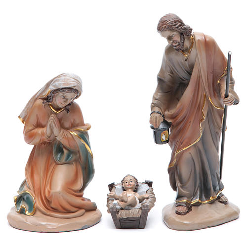 Resin nativity set measuring 20cm, 11 figurines in Classic Style 2