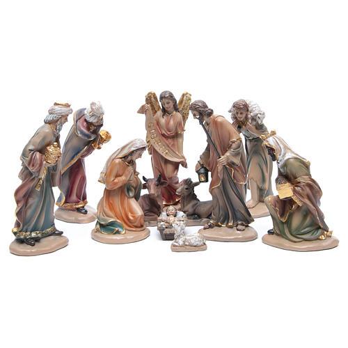 Belén resina 20 cm 11 figuras estilo clásico 1