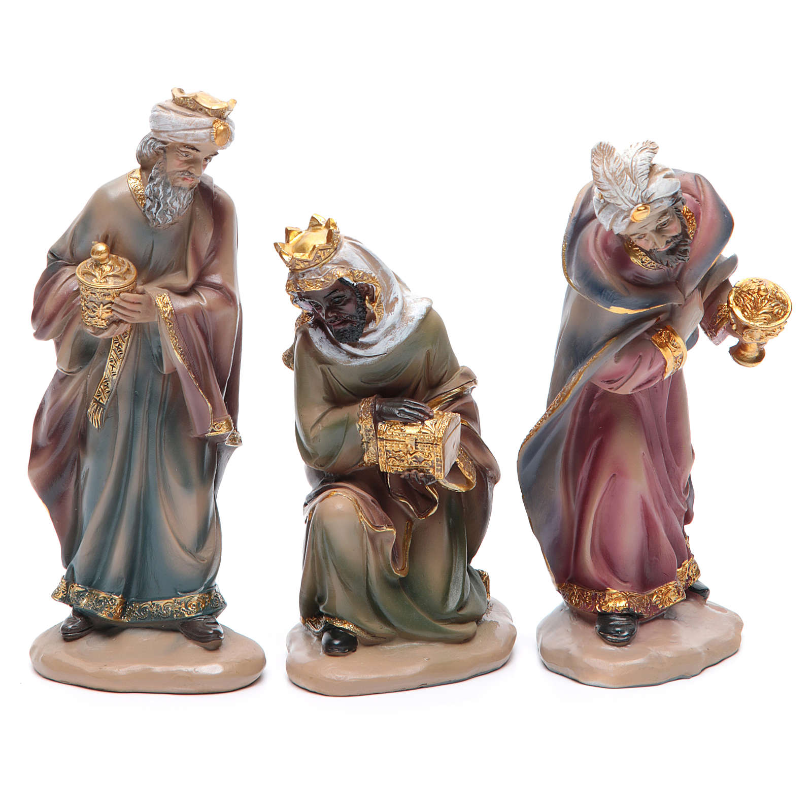 Resin nativity set measuring 20cm, 11 figurines in Classic Style 4