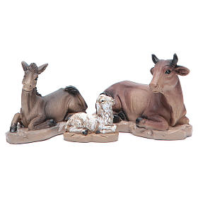 Resin nativity set measuring 20cm, 11 figurines in Classic Style s5