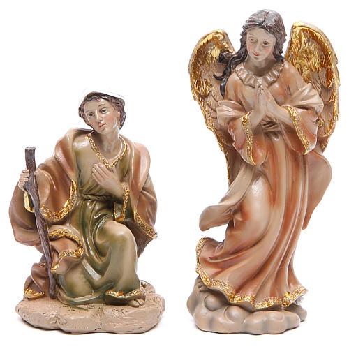 Presépio em resina efeito madeira com 11 figuras de 21 cm de altura média 3