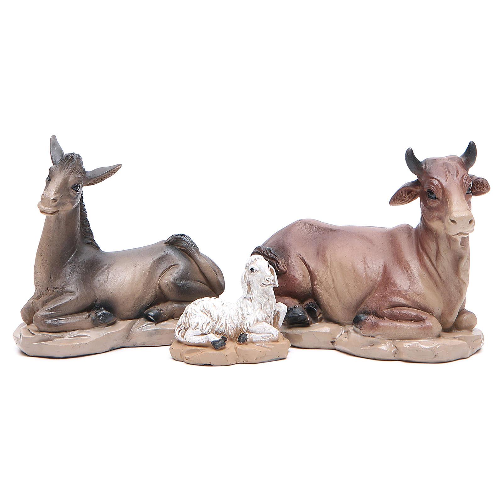 Resin nativity set measuring 20cm, 11 figurines in Wood-like effect 4