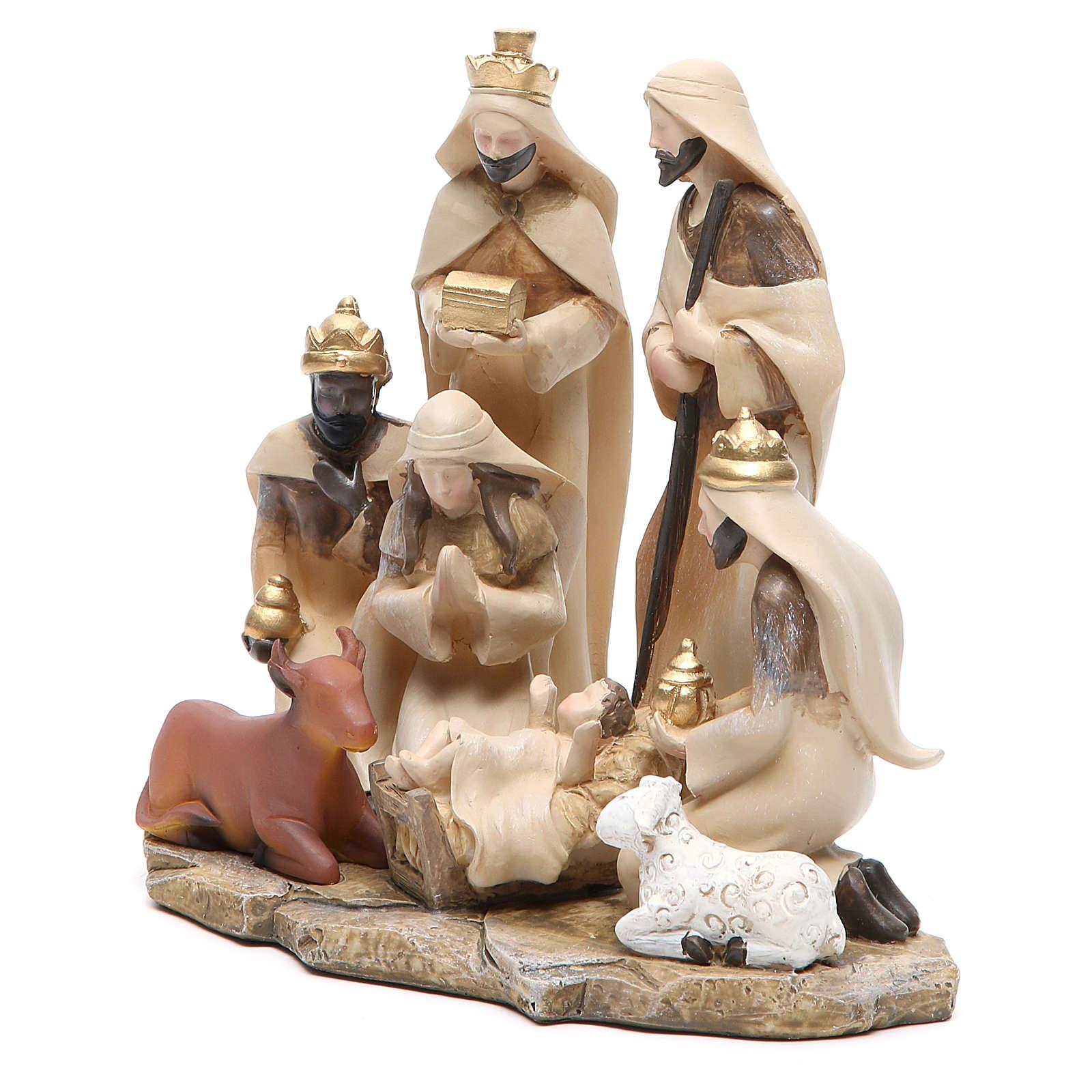 Presepe stilizzato gruppo in resina h. 17,5 cm | vendita
