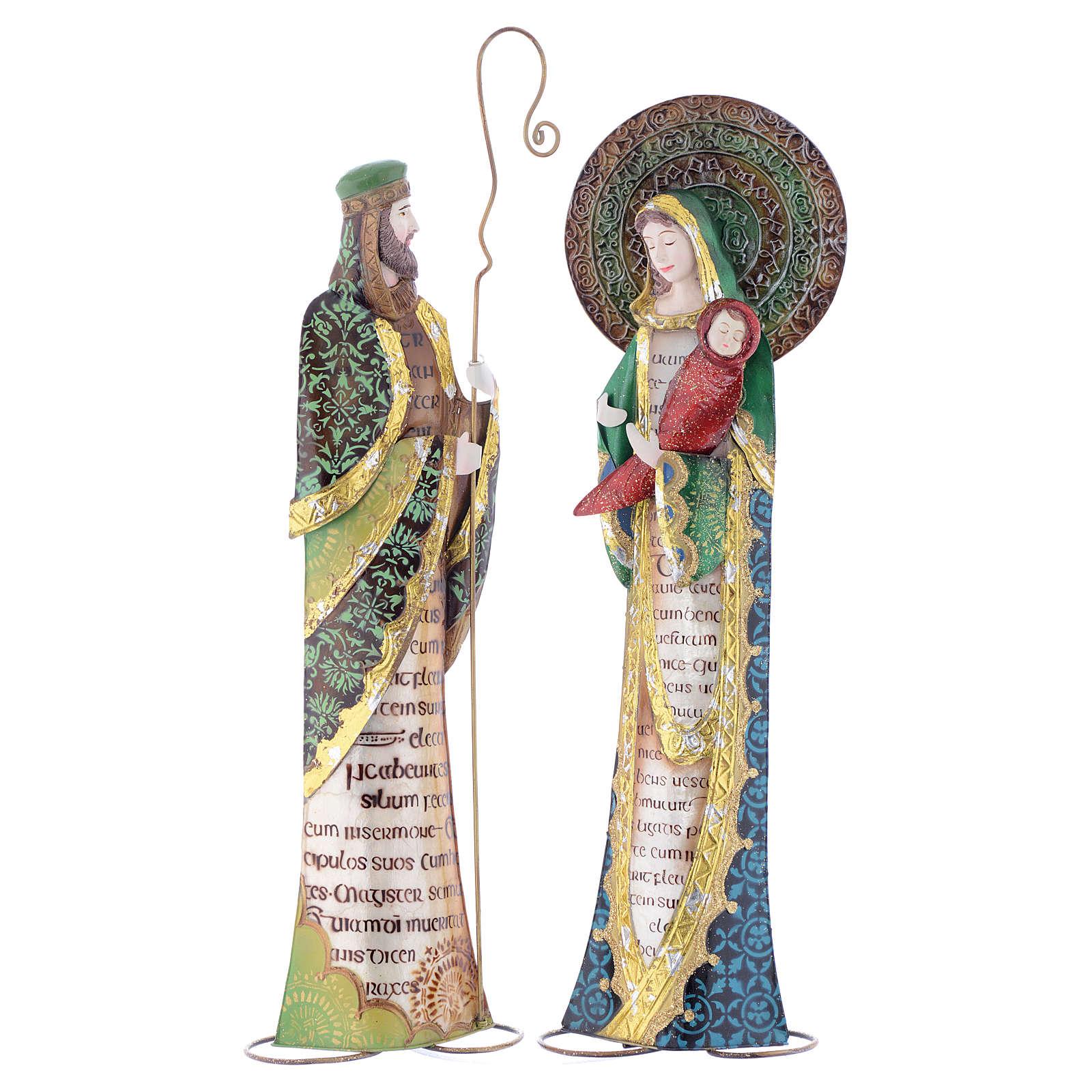 Nativité stylisée Joseph Marie crèche métal 4