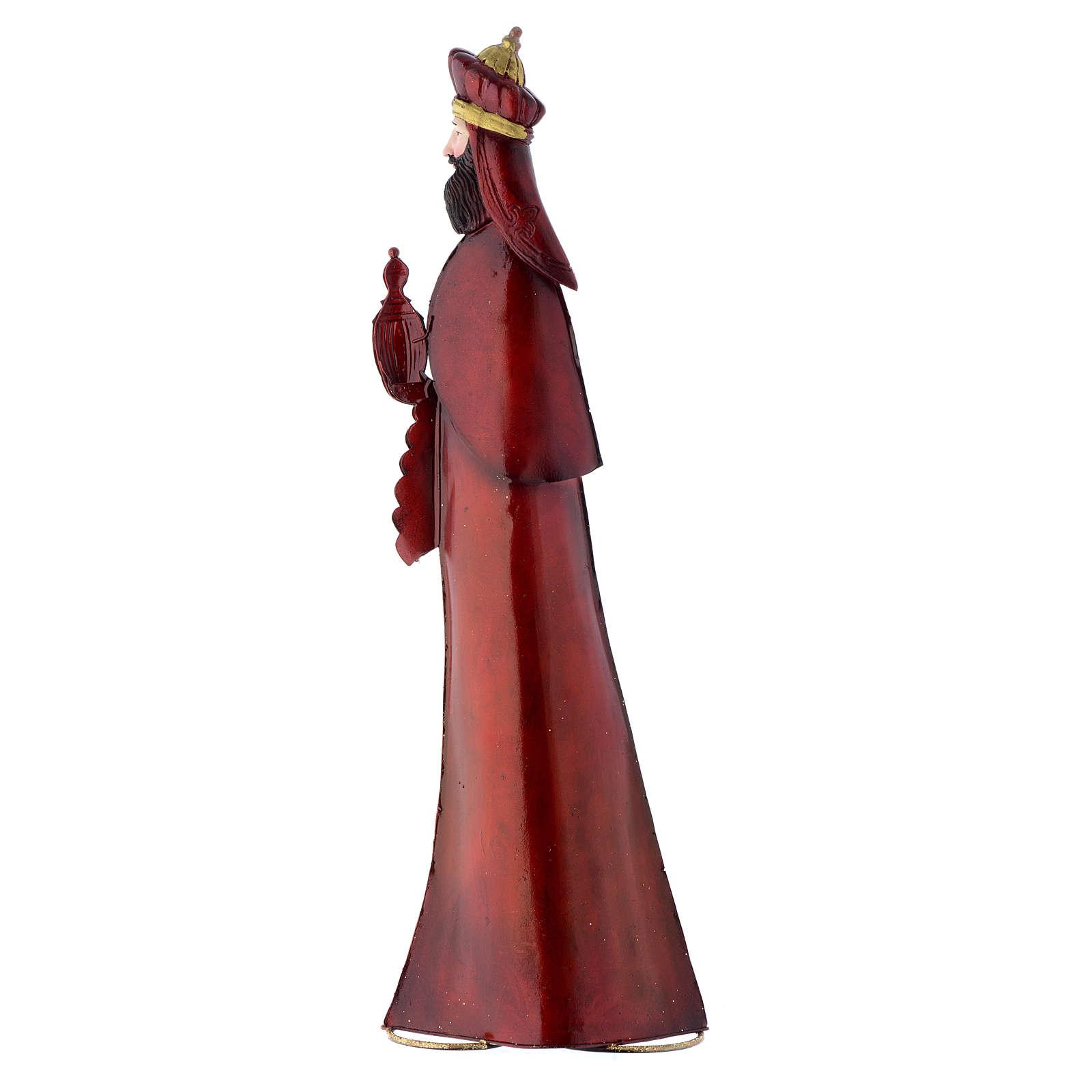 Three Kings, stylised nativity figurines in metal 4