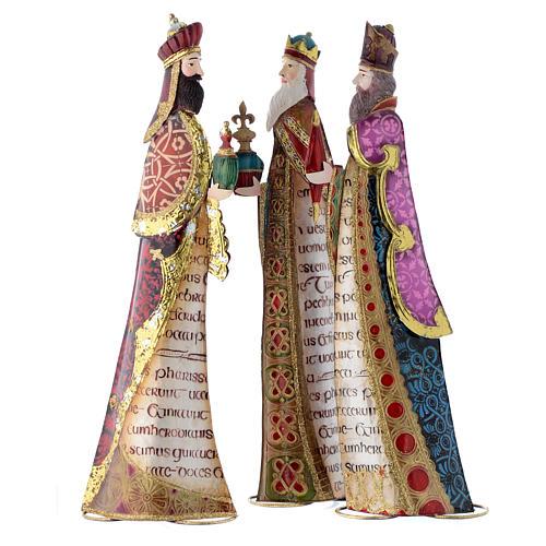 Three Kings, stylised nativity figurines in metal 1