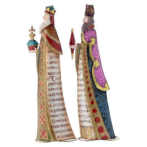Three Kings, stylised nativity figurines in metal 2