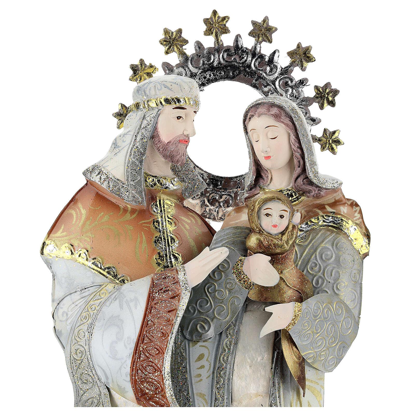 Virgen José Jesús estilizados belén metal 4