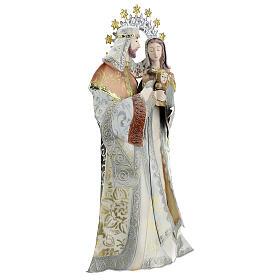 Maria Giuseppe Gesù stilizzati presepe metallo s4