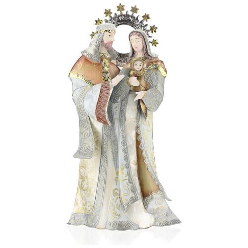Maria Giuseppe Gesù stilizzati presepe metallo 1