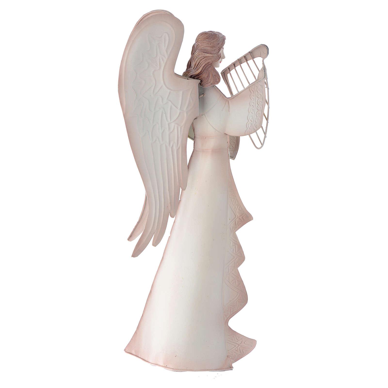 Anjos músicos conjunto 2 figuras estilizadas presépio metal 4