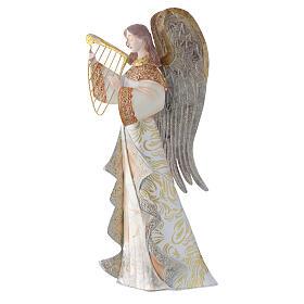 Anjos músicos conjunto 2 figuras estilizadas presépio metal s1