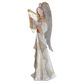 Anjos músicos conjunto 2 figuras estilizadas presépio metal s2