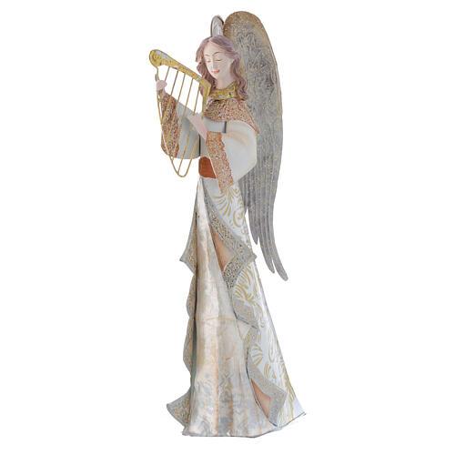 Anjos músicos conjunto 2 figuras estilizadas presépio metal 2