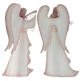 Musician Angels, set of 2 pcs, stylised nativity figurines in metal s4