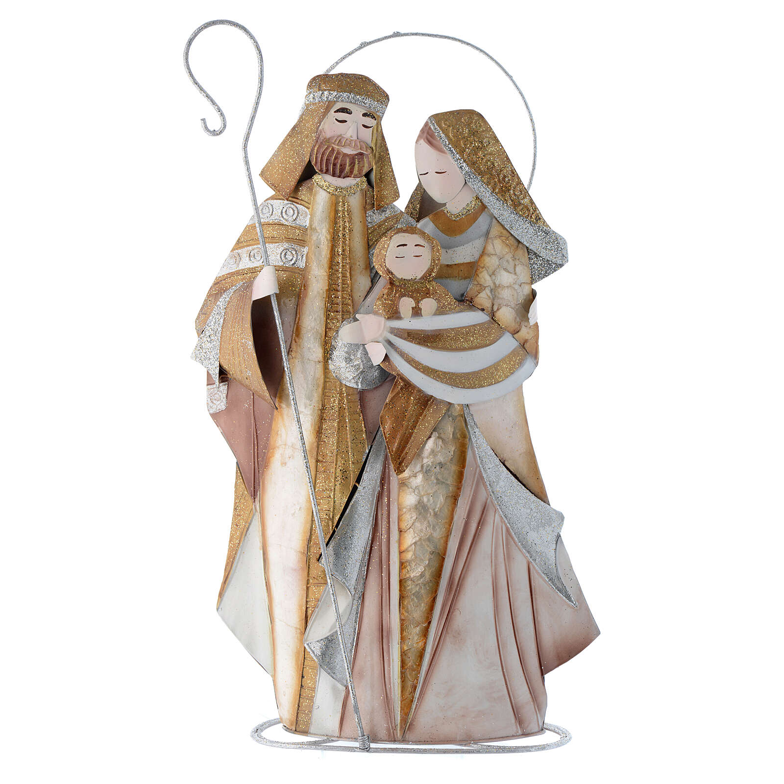 Natividad estilizada belén metal 4