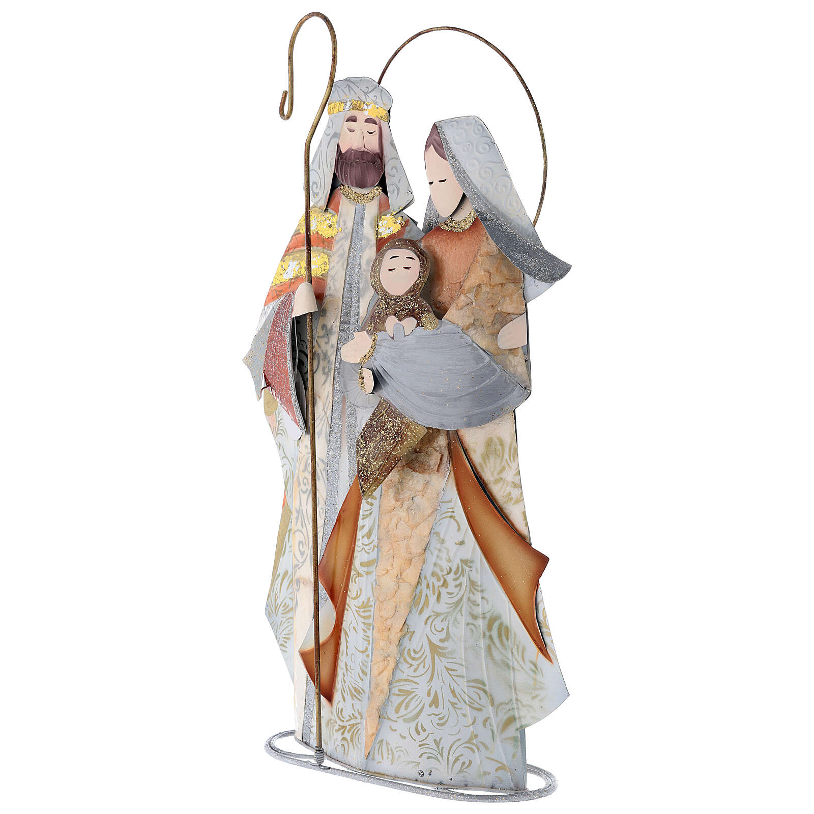 Natividade estilizada presépio metal 4