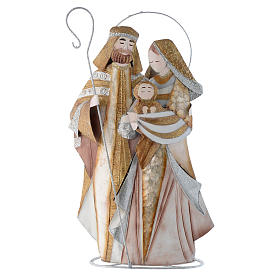 Stylised nativity set in metal s1
