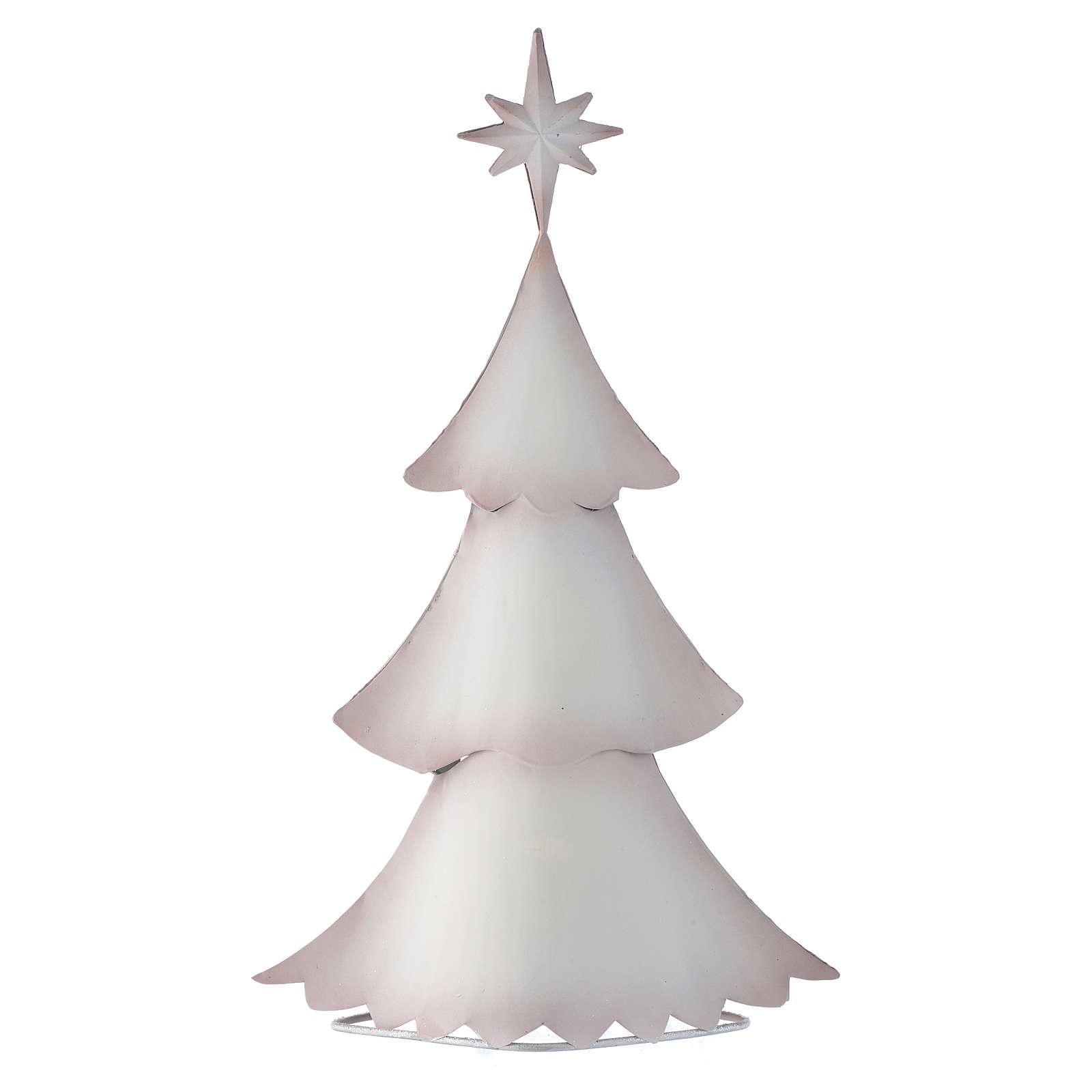 Sapin de Noël blanc stylisé en métal 3