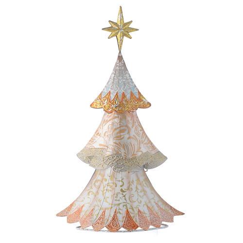 Sapin de Noël blanc stylisé en métal 1
