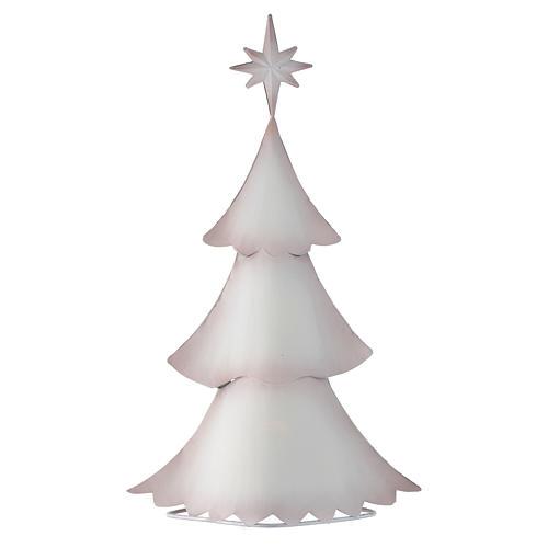 Albero di Natale bianco stilizzato in metallo 2