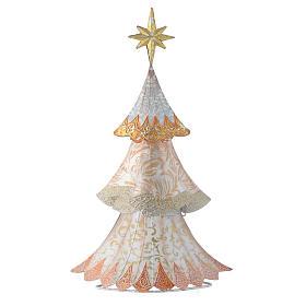 Stylised White Christmas tree in metal s1