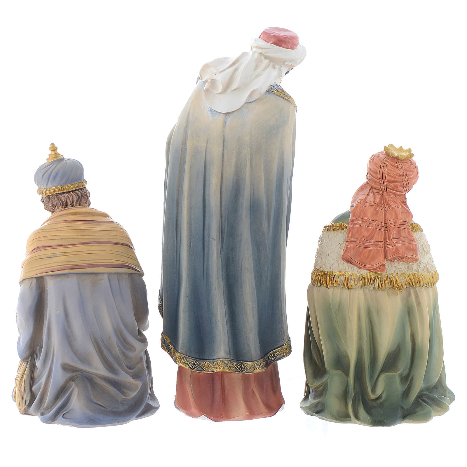 Resin nativity figurines, 8 pieces for a nativity of 20.5cm 4