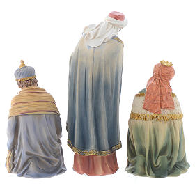 Resin nativity figurines, 8 pieces for a nativity of 20.5cm s5