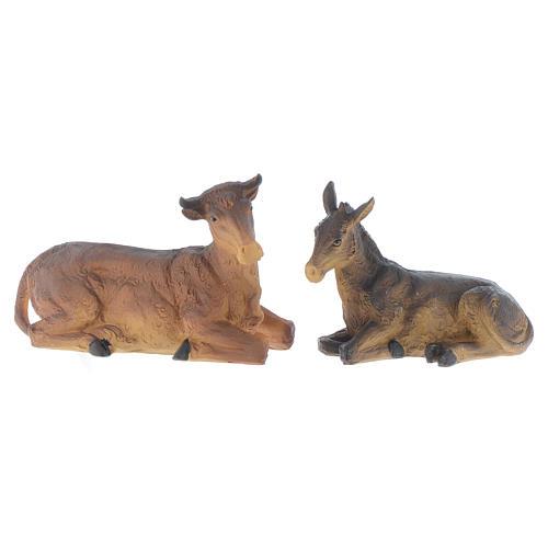 Crèche résine 20,5 cm - 8 santons 6